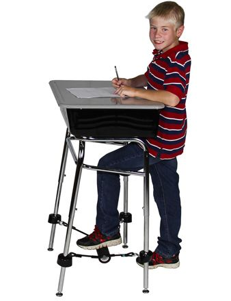 Standing Desk Conversion Kit with the Attachable FootFidget®